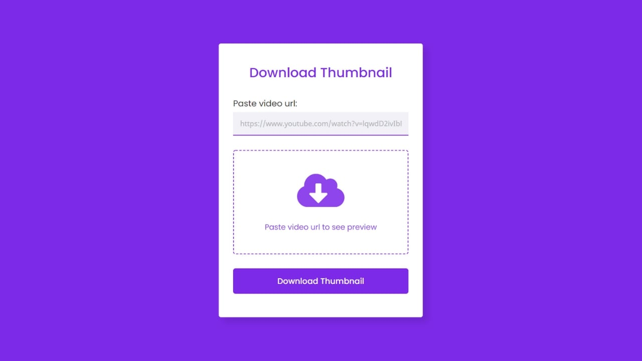 Download YouTube Video Thumbnail in PHP & JavaScript