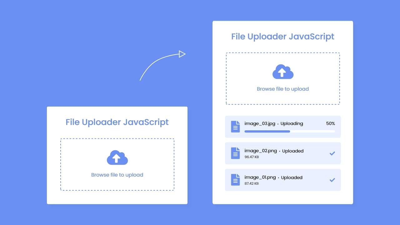 File Upload with Progress Bar HTML CSS & JavaScript