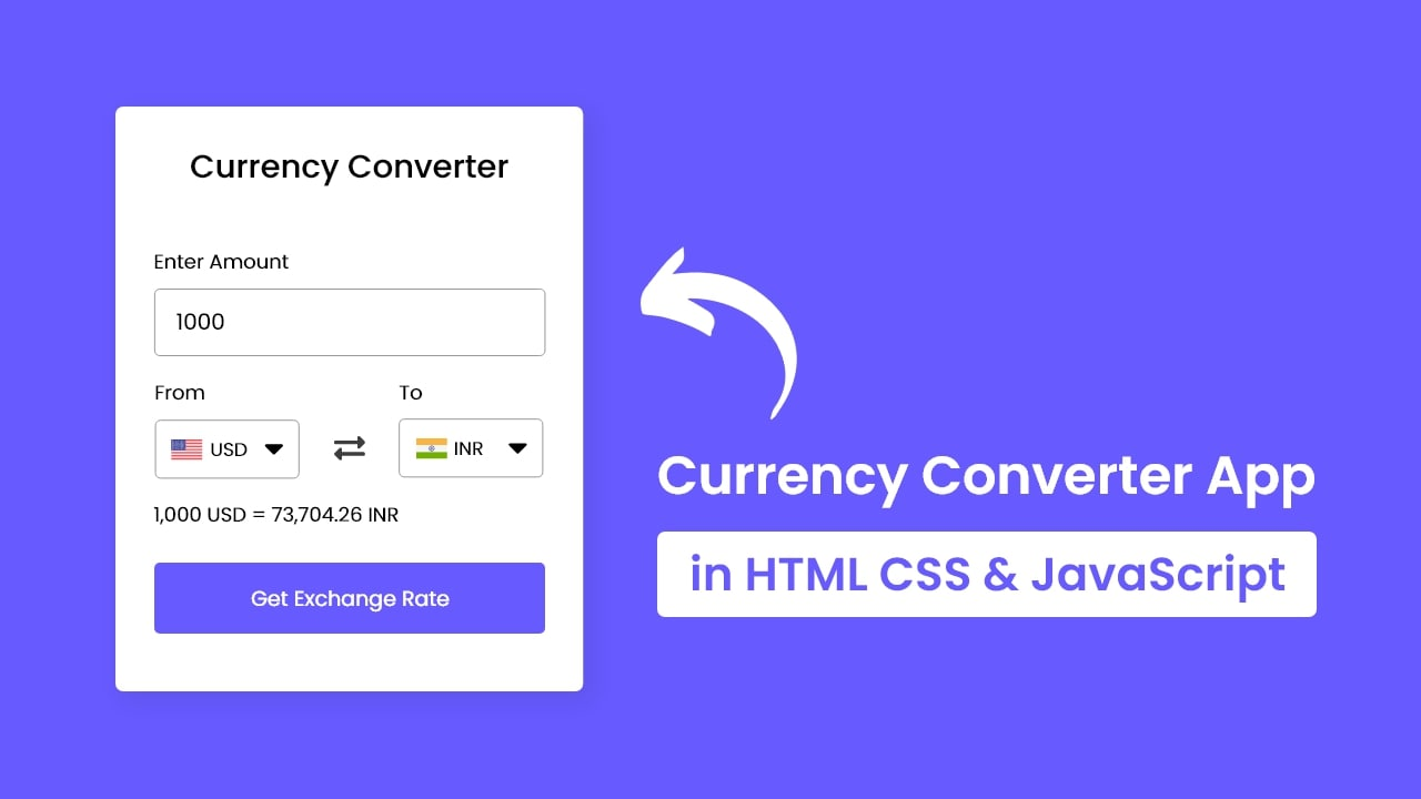 Build A Currency Converter App in HTML CSS & JavaScript